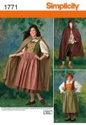 1771 Simplicity Pattern: Misses' and Men's Costume